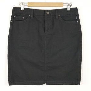 Gap Stretch Denim Mini Pencil Skirt Black Sz 8 NWT